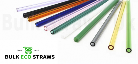 Wholesale Glass 6mm Normal Clear - Glass Borosilicate Bulk Eco Straws - 180mm x 6mm